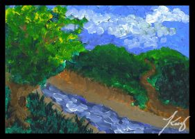 Babbling Brook: Monet Style by annora