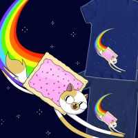 Adventure Time - Nyan Cake tee by DiHA-Artwork