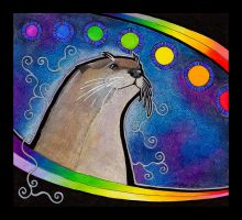 Rainbow River Otter as Totem by Ravenari