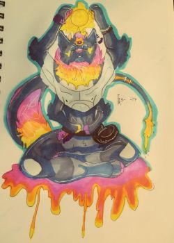 The Enlightened One {{ART TRADE}} by whiskey-smoke