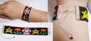 Mario beaded bracelet by Ady-182