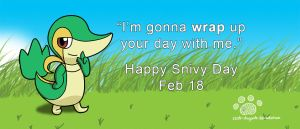 Snivy Day by Coshi-Dragonite