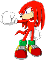 Knuckles the Echidna by MollyKetty