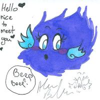 Hello flying beeping fuzzball by Kittychan2005