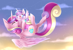 Cadence and Flurry Heart + Speedpaint by Scarlet-Spectrum