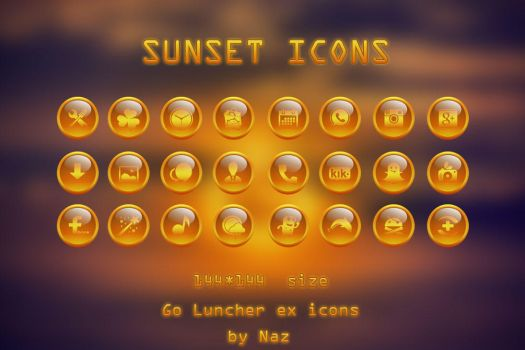 Sunset Icons by Naz-B