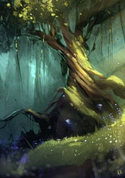 'Twisted Tree' Speedpaint by AaronGriffinArt