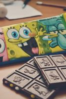 spongebob chocolate by artahh