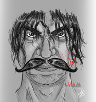 Juan the killer - With an epic Mustache by Hasaki-Senjiro