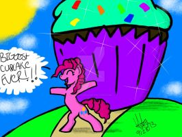 BIGGEST CUPCAKE EVER!!! by YaoiLover113