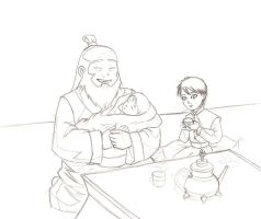 Iroh and Kids by DanaisH