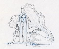 Mermaid WIP by heycheri