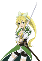 ALO Leafa - Lineart Colored by DennisStelly