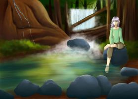 Peaceful forest by Death-by-KIRA