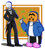 Spooky Scary Skelebros by museconfused