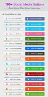 100 Social Media Buttons by KL-Webmedia