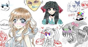 *Our the most super ultra kawaii iscribble board* by tsusv