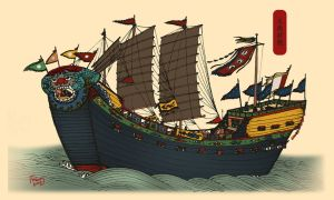 Vietnamese ancient battleship by empoleon92
