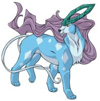 ...pogheys... Suicune by Rainbow-Cemetery