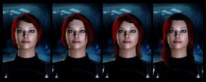 Commander Shepard Hairdos by daeds
