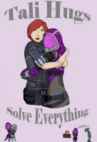 Tali Hugs Solve Everything by MeEmilee