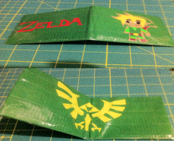 Duct Tape Wallet : Zelda by areica
