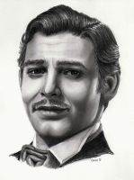 Clark Gable Graphite by mydeadflowers