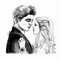 Twilight Bella and Edward Prom by burntfeather