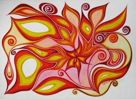 Flame flower by Evellii