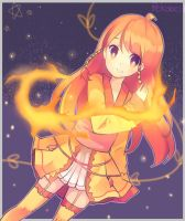 fire flies by Pekobell