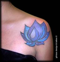 lotus tattoo by gilrizzo
