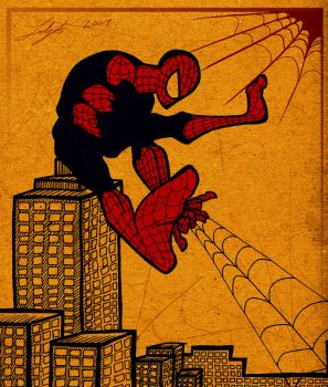 Spiderman by sketchinthoughts