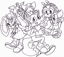 Sonic X - the Cute Group by Cloud-Kitsune