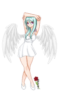 Angelic Summer Outfit by BlackStarsShineToo
