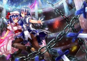 Touhou - Remilia and Sakuya by 90i