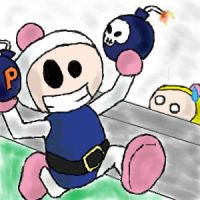 Bomberman in full offence by LiquidP-Dub