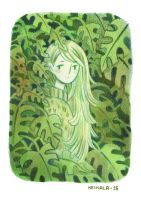 A girl in the jungle by heikala