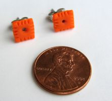 Tiny Cheezit Earrings by yobanda