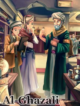 Al-Ghazali and His Student by AFD42