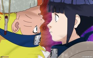 Naruto and Hinata Wallpaper by Danrockster