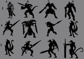 silhouettes study by androsm
