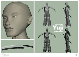 yuji game model wip001 by kurocrash