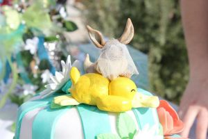 Eevee and Psyduck Cake Topper - FIN by chubby-choco