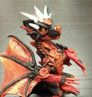 Red and Black Dragon Small by AstridMakosla