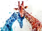 giraffes by ElenaShved