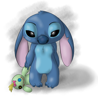Stitch - Lonely by PonderingChibi
