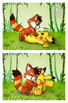 [Commission] Dice and Pikachu by Veemonsito