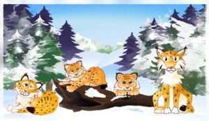 some more for this procect - lynxes at ecards by krysiaida