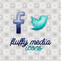 Fluffy social media icons by iamszissz