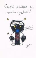 CARD GAMES ON MOTORCYCLES by lockheart9